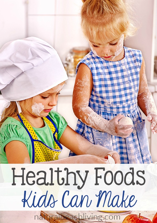 Fun and Delicious Healthy Foods Kids Can Make, Fun Recipes for kids to make and easy cooking ideas for Kids in the Kitchen, snacks that kids can help make, kids lunches, After School Snack Ideas, Practical Life skills for kids and more.