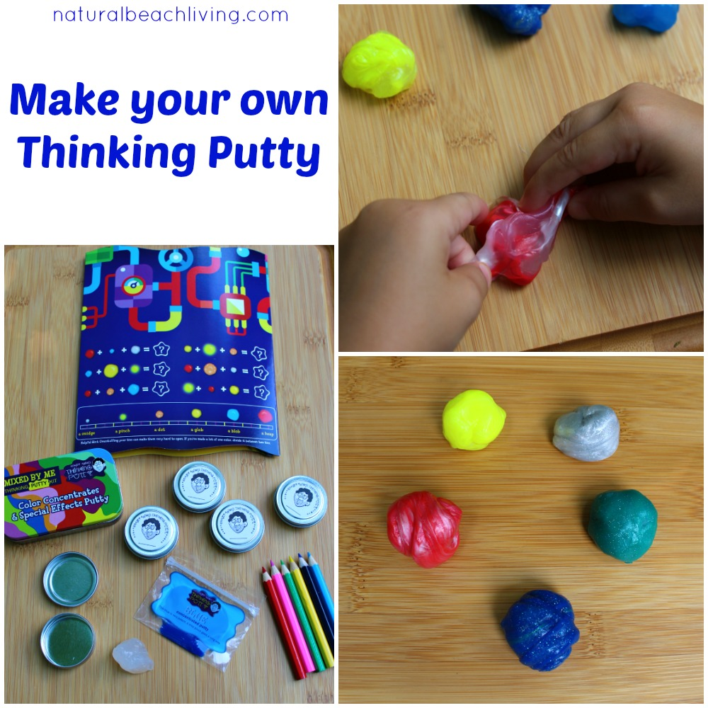 How to Make Your Own Thinking Putty, Mixed By Me Thinking Putty is perfect for children of all ages, sensory play, creativity, kinesthetic learners, fidget