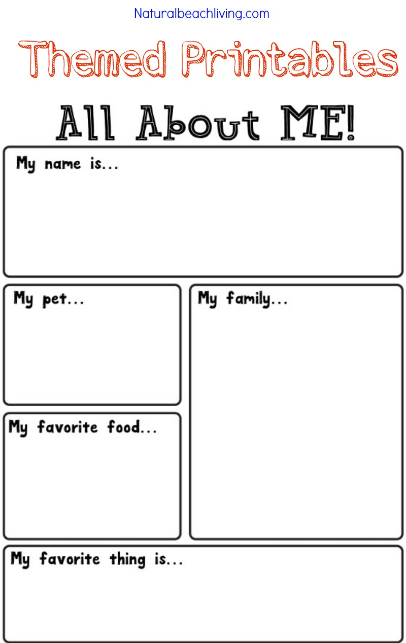 All About Me Activity Theme for Preschool & Kindergarten - Natural ...