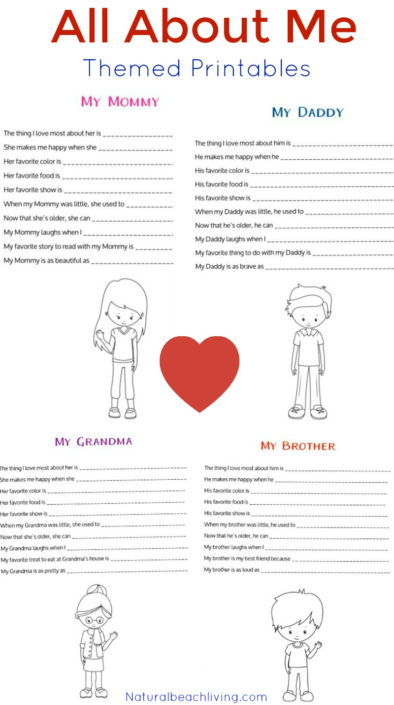 Absolutely Adorable All About Me Activity, All About Me Preschool Theme, All About Me Kindergarten, Handmade Family Keepsakes Crafts, Preschool Free Printables, Handprints, Footprints, fun kids activities, Kids Crafts, All About Me Theme, All About Me Activities, Preschool Theme, #Preschoolthemes #Preschoolcrafts #Preschoolactivities