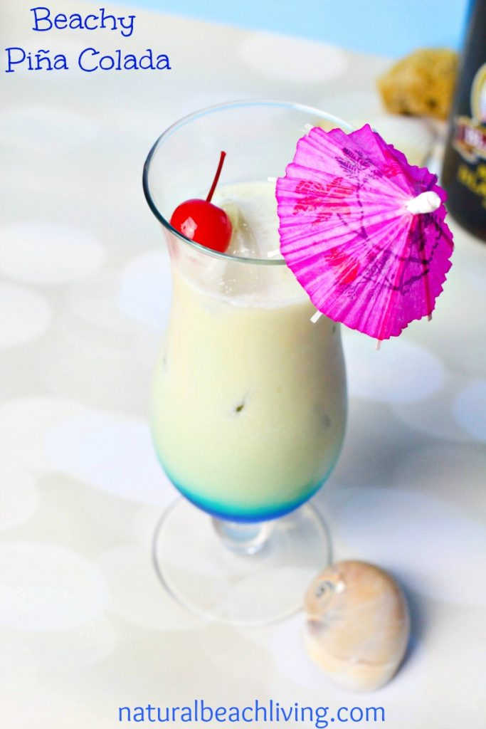 The Most Amazing Natural Beach Living Piña Colada Drink, An Amazing Sweet Classic Cocktail Made 2 ways Frozen or on Ice. Perfect for summer Entertaining