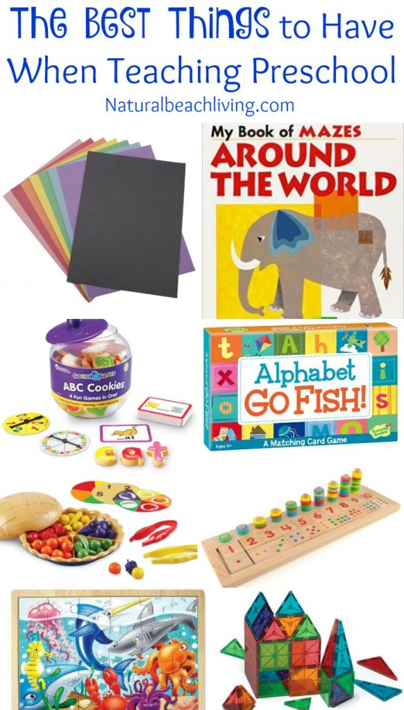 The Best Things to Have When Teaching Preschool, Hands on learning, natural materials, Science, Imaginative play, Fine motor skills, Arts & crafts plus so much more, all from a Former Preschool Teacher