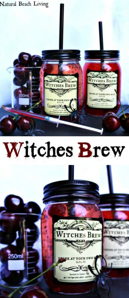 Witches Brew Halloween Drink for Kids, Witches Brew Recipe, Easy to make Halloween Drink Recipe, Witches Brew Mason Jar that's a Non-alcoholic Halloween Drink, Perfect Kid Friendly Halloween party drink, Halloween Free Printables