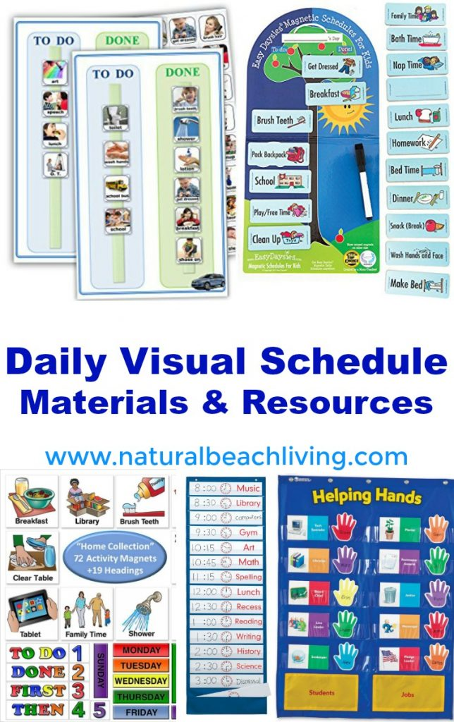 Free Printable Picture Schedule Cards, Daily Visual Schedule, Visual Schedules, Special Needs, Autism, 10+ Visual Schedule Printables for home & school, Visual Schedule Printable, #Autism #Visualschedule #specialneeds