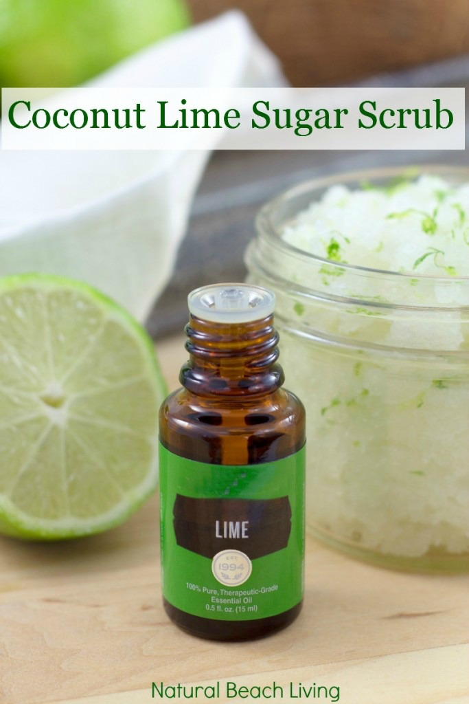 The Most Amazing Coconut Lime Sugar Scrub. All Natural, Easy to make and smells so good, just like you are at the beach.Your skin will be soft & smooth, your body refreshed!