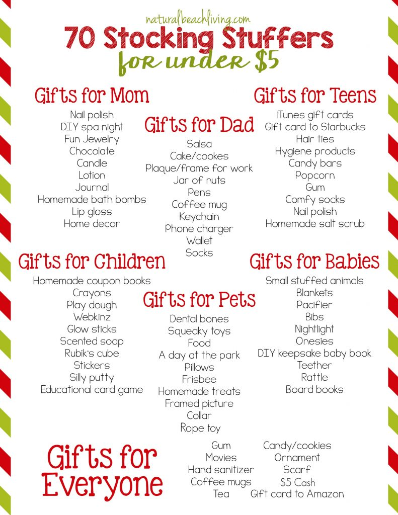 70 stocking stuffers for under 5 cheap gift ideas stocking stuffers for mom