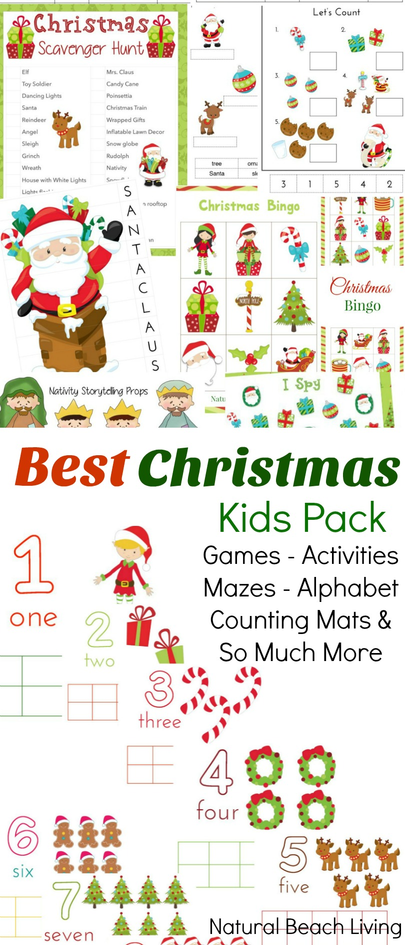 photo regarding Printable Christmas Activities identified as The Great Xmas Pursuits for Small children - Xmas