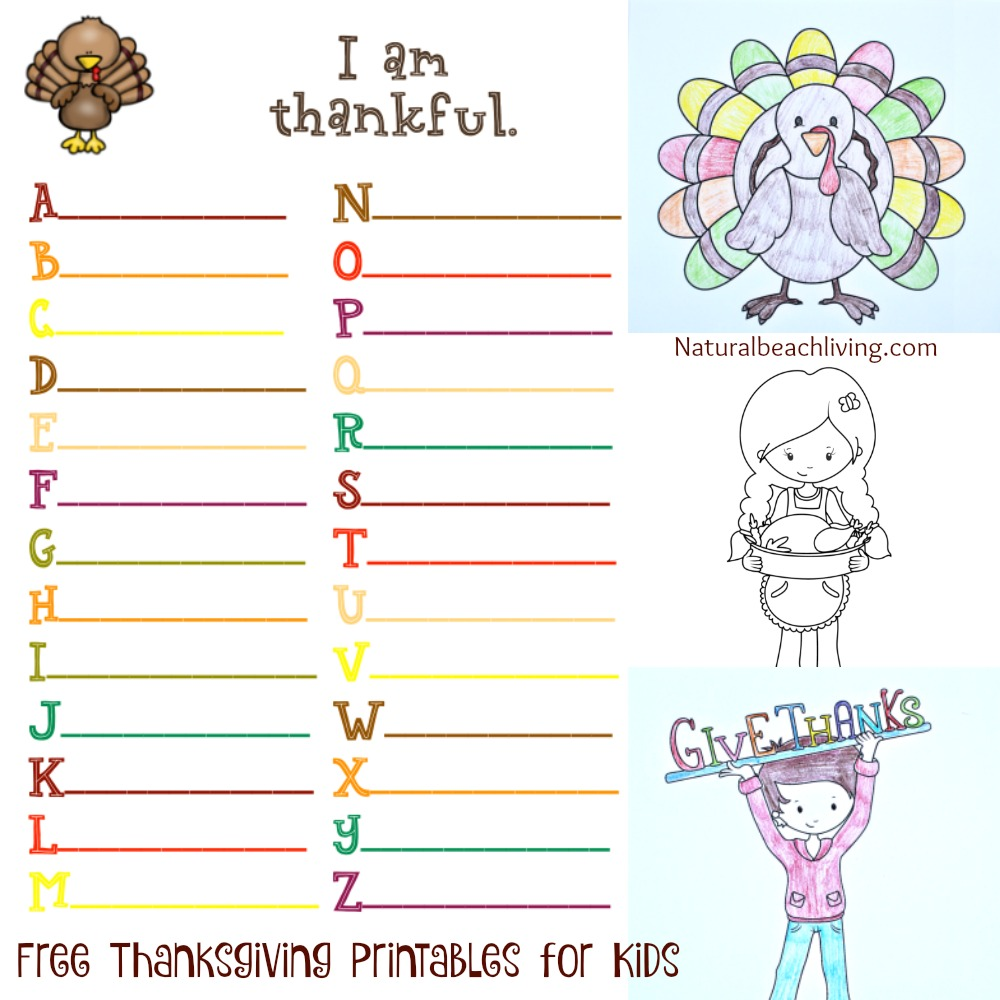 Thanksgiving Printables and Thankful Printable Activities, Thanksgiving Coloring Pages, I Am Thankful for Worksheet, Thanksgiving Crafts and lots of Thanksgiving ideas for kids, Thankful tree, Free Thanksgiving Printables for Kids
