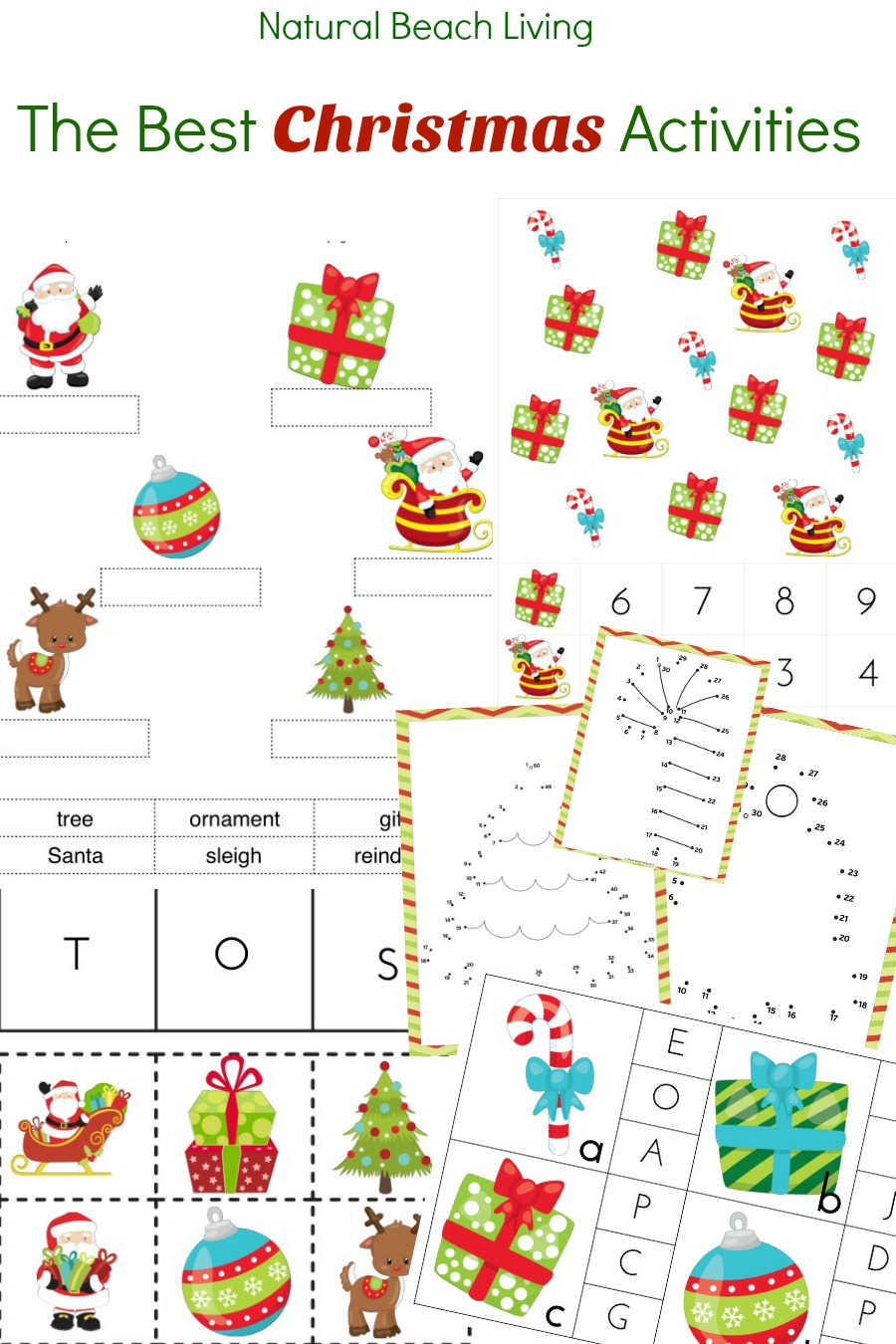 Best Christmas Activities for Kids and Christmas Printables and Activities, Best Christmas Activities printables, Christmas activities for kids, Christmas Math Activities, Christmas Coloring Pages, Christmas Playdough Mats, Winter Scavenger Hunt, Christmas Reading Challenge and More