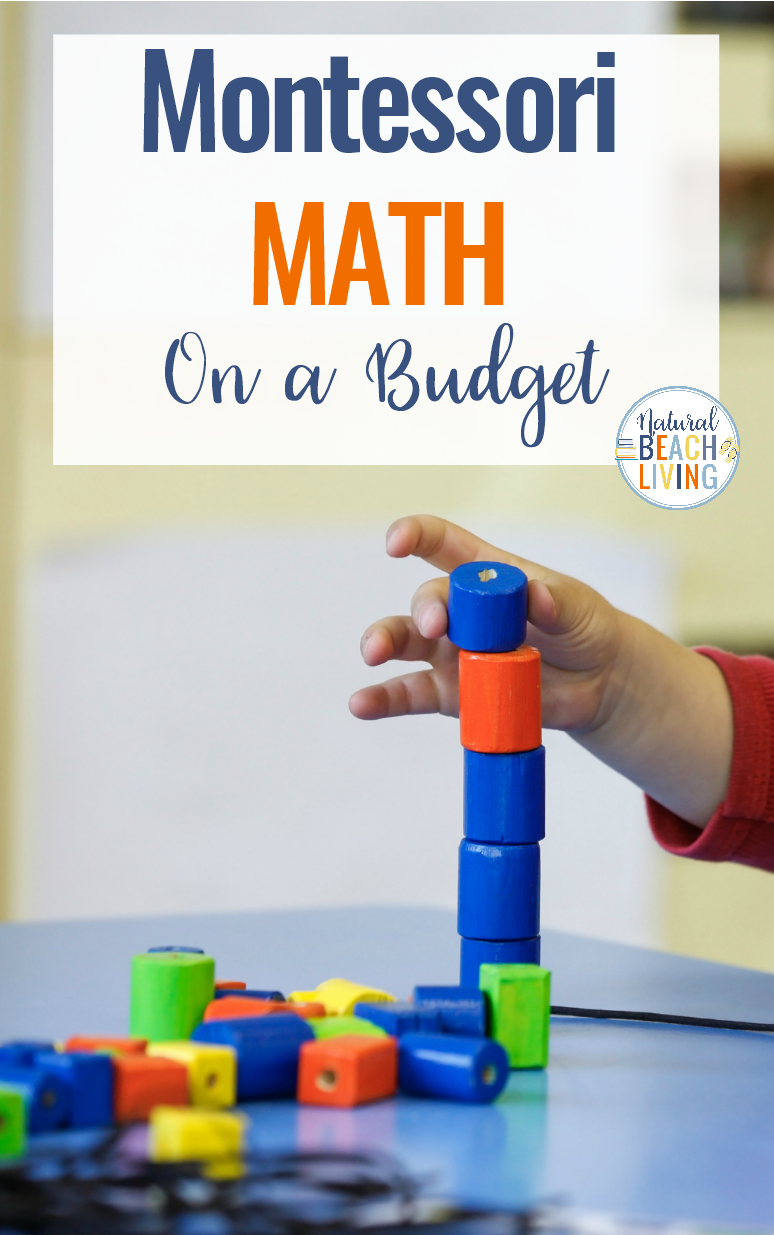 Easy Ways to Use Montessori Math on a Budget, DIY Montessori, hands on Math activities, Montessori Free Printables, Preschool Math, Montessori at Home, Montessori Math at home and Montessori education