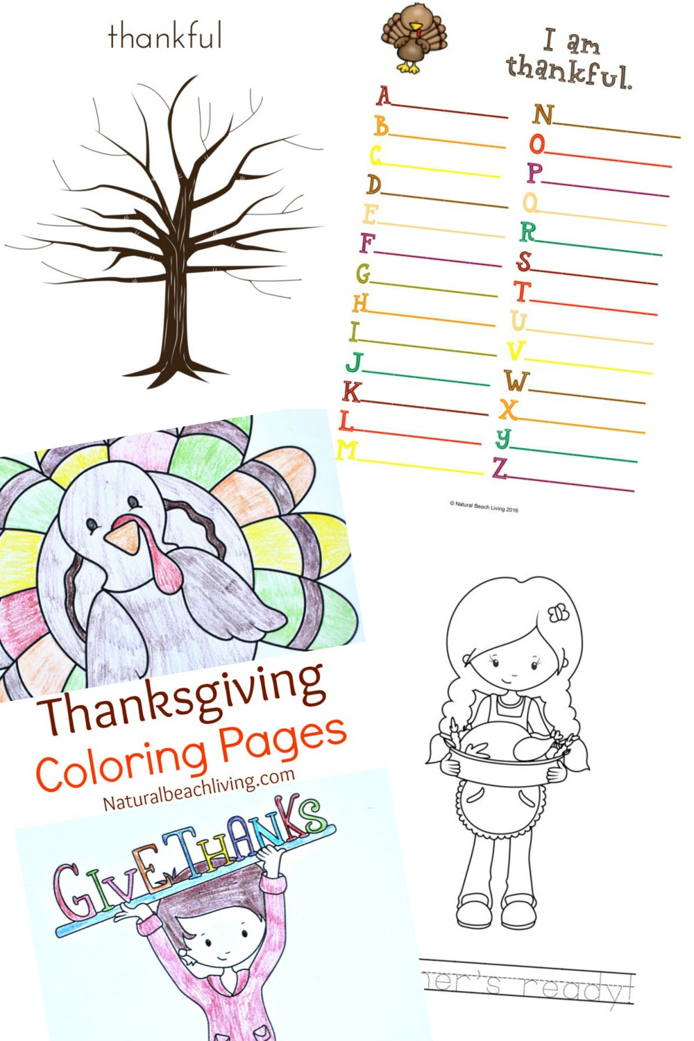 Thanksgiving Printables for Kids - Natural Beach Living