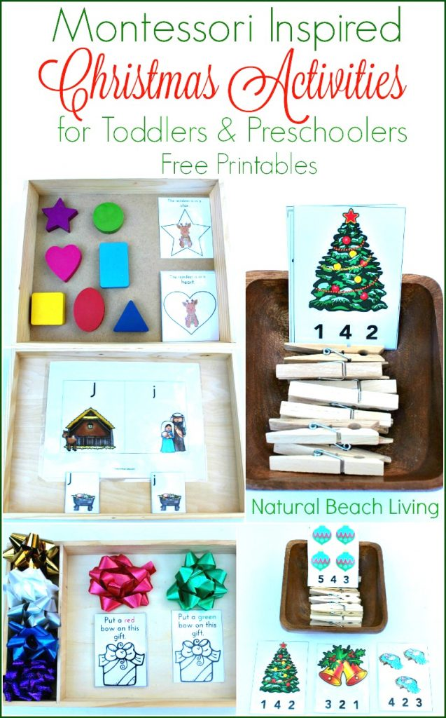 Montessori Christmas activities, Best Montessori Winter Activities for Preschool and Kindergarten, Montessori Winter Sensory Bins, Montessori Winter Themes, snowflake activities, winter animal ideas #Montessori #Winteractivities #preschool