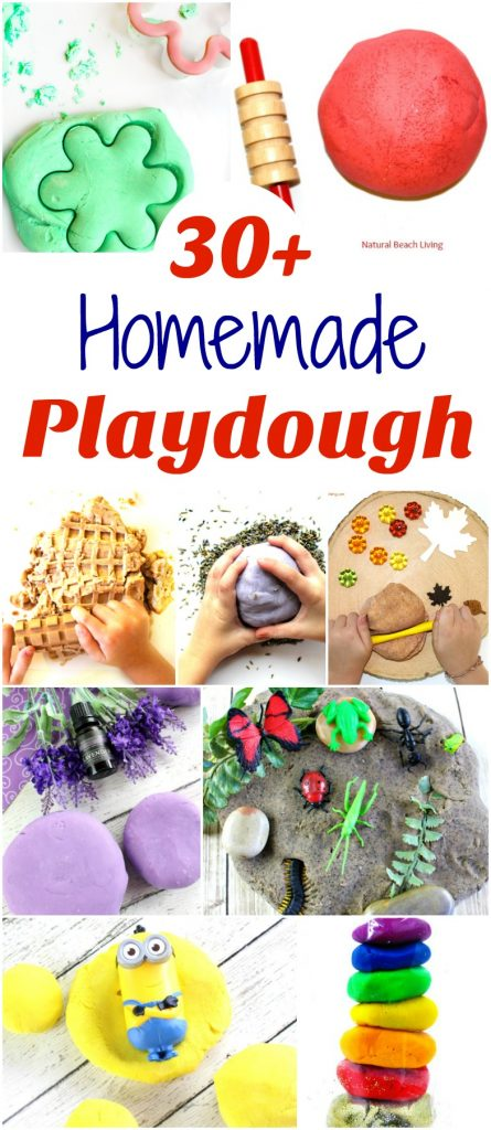 30+ Playdough Recipes, How to Make Homemade play dough, The BEST Playdough Recipe, easy to make playdough, scented playdough, No Cook playdough recipe, 2 Ingredient Playdough, Jello Playdough, Cinnamon Playdough and More #Playdough #Homemadeplaydough #cinnamonplaydough #playdoughrecipe