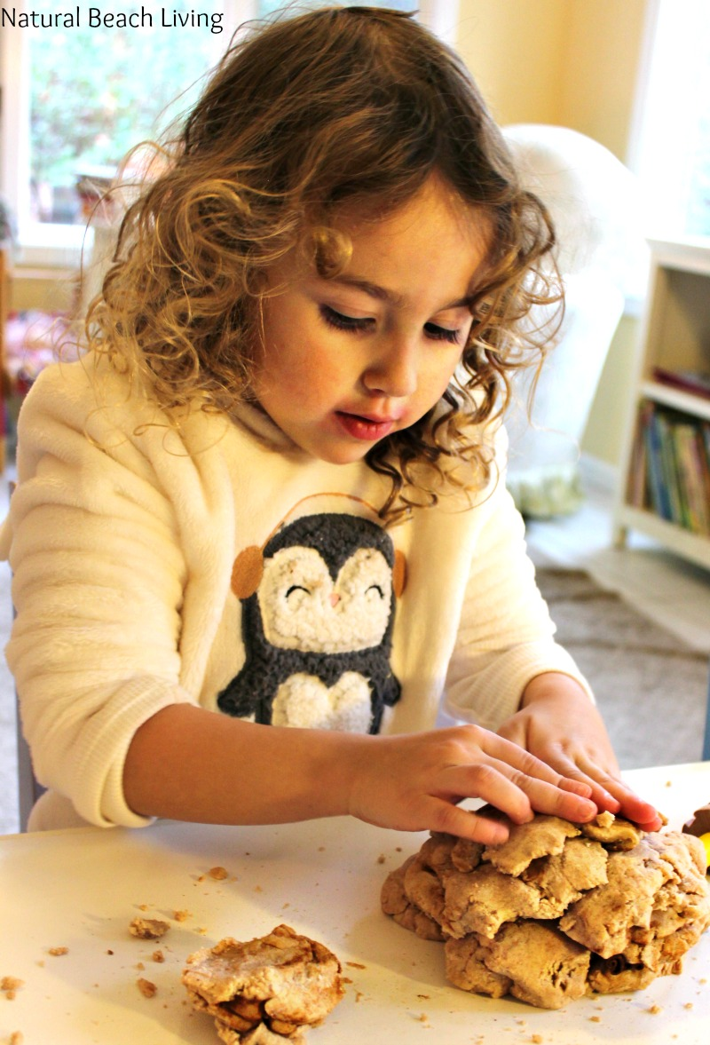 The Most Amazing No Cook Natural Apple Cinnamon Playdough Recipe, Sweet smelling, super soft homemade play dough perfect for sensory play