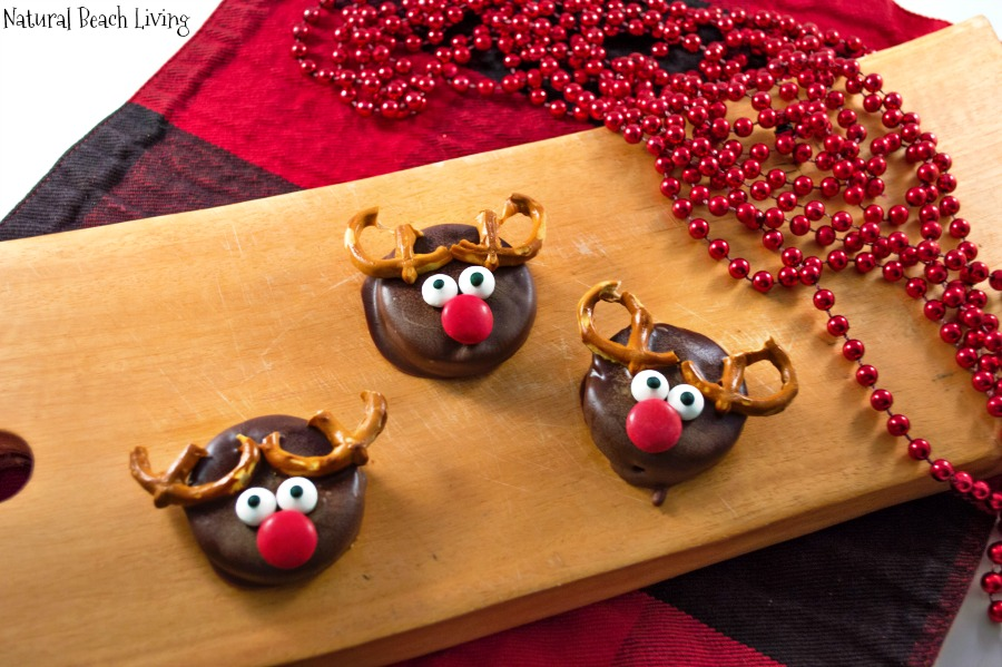 Chocolate Covered Reindeer Holiday Cookies Natural Beach Living