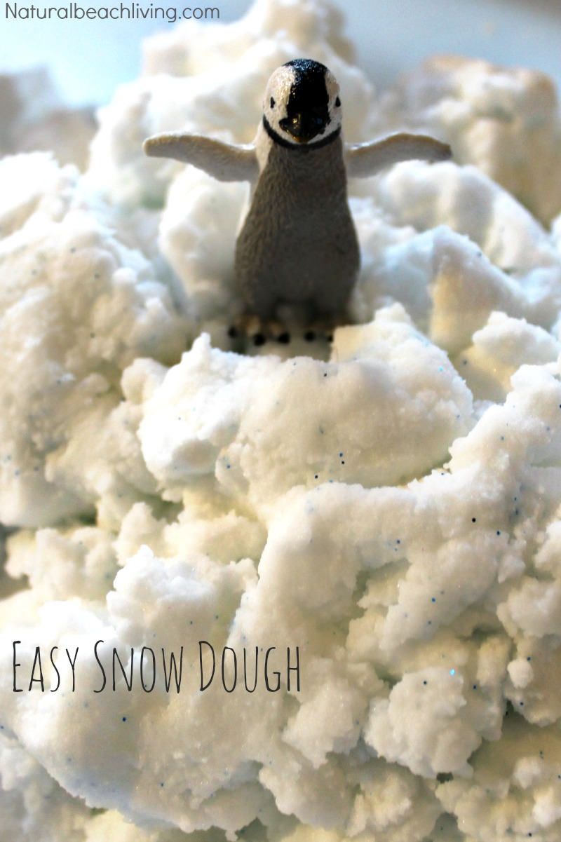 Homemade Snow Dough Recipe – Easy 2 ingredient recipe
