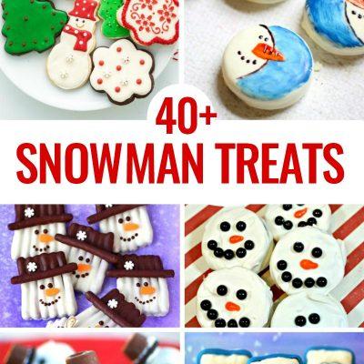 40 Snowman Treats for Kids