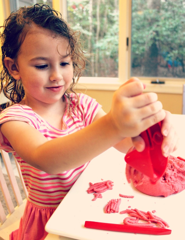 Amazing No Cook Strawberry Playdough Recipe, Perfect for Valentine's Day or Summer this play dough smells amazing. The Best Jello Dough Recipe