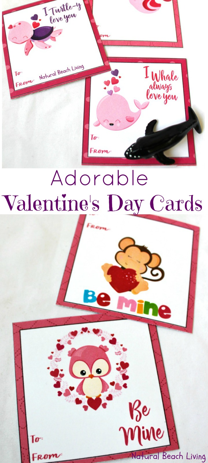 Adorable preschool valentines day cards free printables for kids practice handwriting and fine motor
