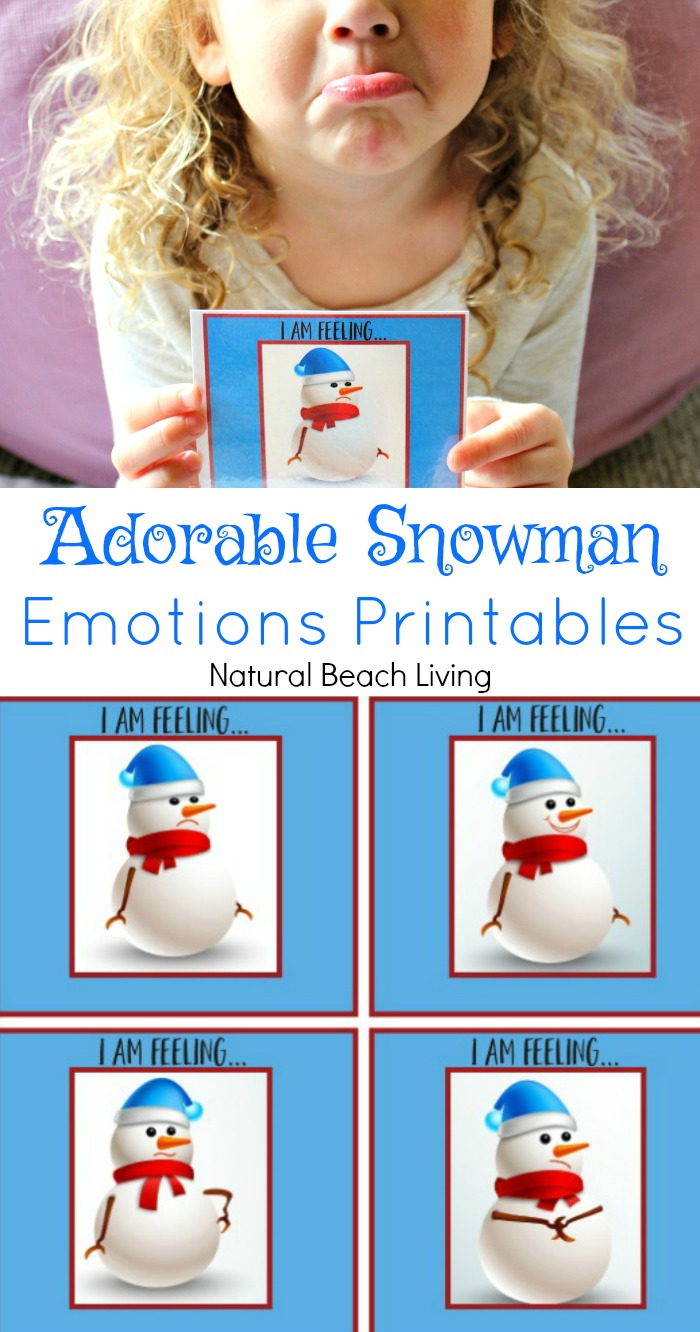 Easy to Use Snowman Emotions Printables for Preschoolers, Preschool theme emotions and feelings using snowman printable cards. A Great Winter Activity for Toddlers and Preschoolers, Emotions Preschool Activities and Lesson Plans, Teaching about Feelings and emotions, Autism, Emotions Visual Cards, Fun emotions preschool printables, Winter preschool activities, #preschool #preschoolactivities