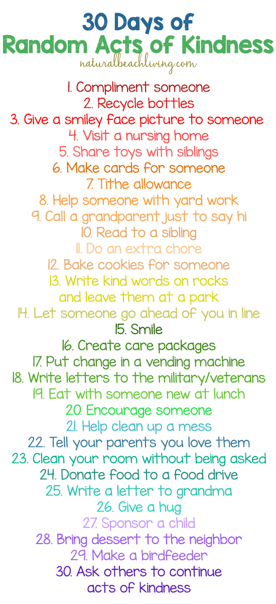 30 Random Acts of Kindness Ideas for Kids, Teaching kids that kindness matters, Easy ways to show kindness and simple kindness ideas for preschoolers and Kindergarten. Acts of Kindness for Kids with Kindness Crafts and activities