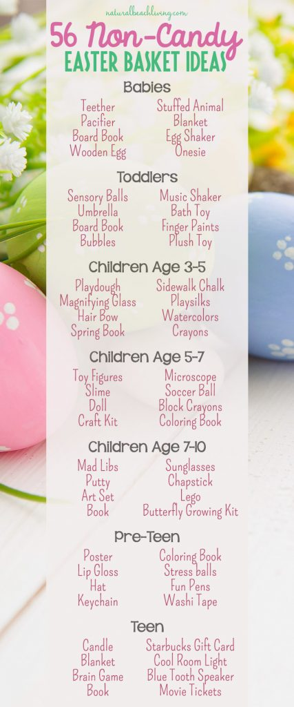 56 Non Candy Easter Basket Ideas For Kids Natural Beach