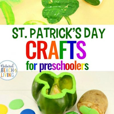 Preschool St. Patrick's Day Crafts – Shamrock Stamping