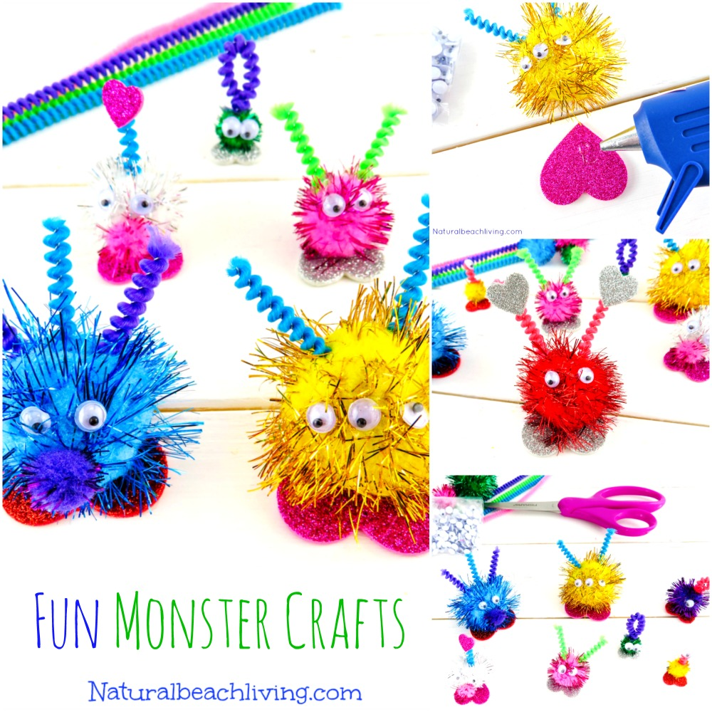 Adorable Monster Crafts Preschoolers Will Love, Perfect friendly monster crafts for kids, Perfect for creative kids and using your imagination,Monster theme