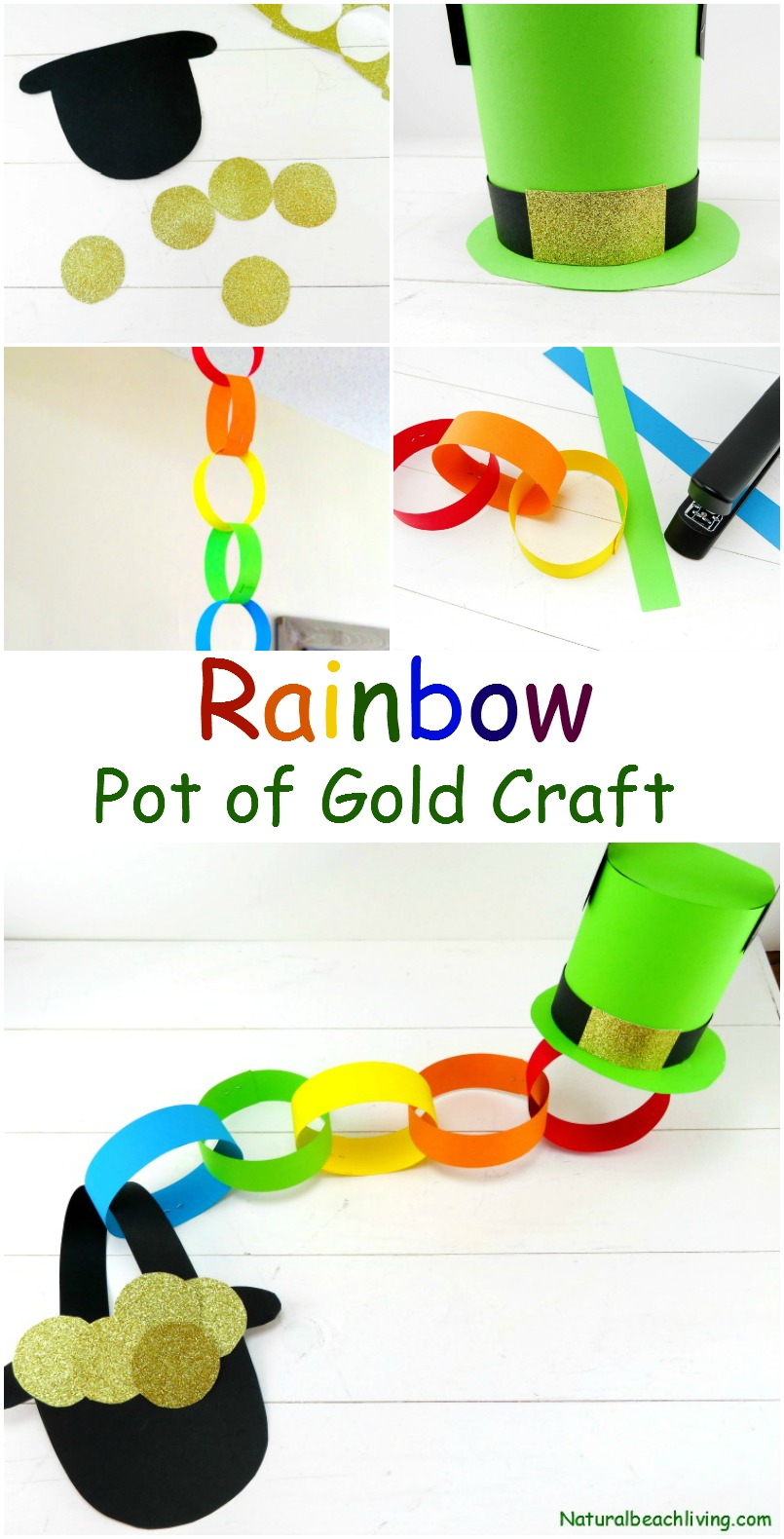 Rainbow Pot of Gold Craft Idea for St Patrick's Day