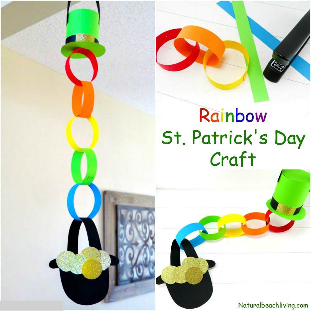 Rainbow Pot Of Gold Craft Idea For St Patricks Day Natural Beach