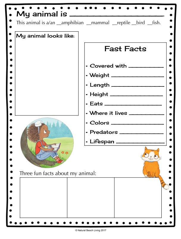 Animal Research For Kids With Zoey And Sassafras Free Printable