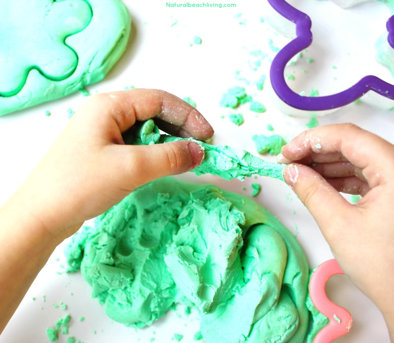 The Easiest and softest 2 ingredient PLAY DOUGH RECIPE, The Best Green Apple Scented Play Dough Recipe, Super Soft Play Dough, Conditioner Play Dough