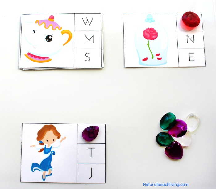 The Perfect Beauty and The Beast Printables for Preschool & Kindergarten, Puzzles, Alphabet activities, Word Cards, Cutting practice, Homeschooling