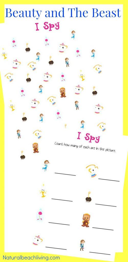 Beauty And The Beast Printables For Preschool Kindergarten