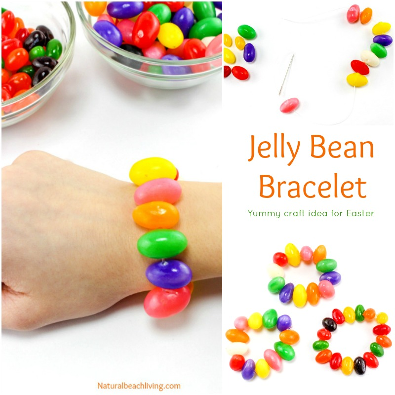 Sweet Jelly Bean Crafts Bracelet for Easter (Free Prayer Printable)