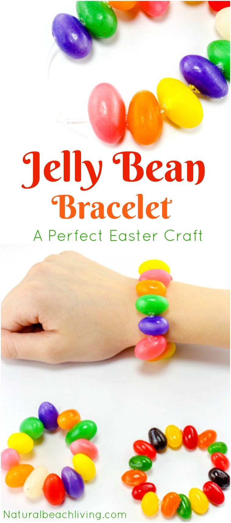 graphic about Jelly Bean Prayer Printable named Adorable Jelly Bean Crafts Bracelet for Easter (No cost Prayer