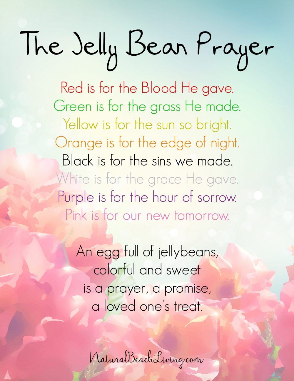 photo about Jelly Bean Prayer Printable called Cute Jelly Bean Crafts Bracelet for Easter (Totally free Prayer