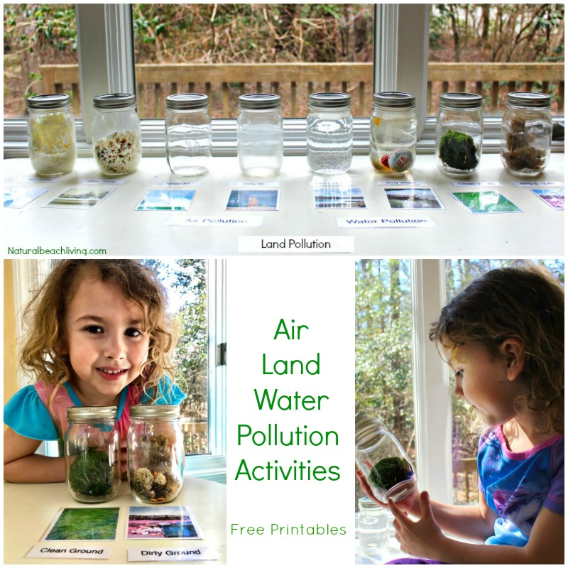 Teaching Kids About Pollution, Air, Land, & Water Pollution Activities, Printables, Earth Day Activities & Earth Day Ideas, Montessori, Reggio, Perfect!
