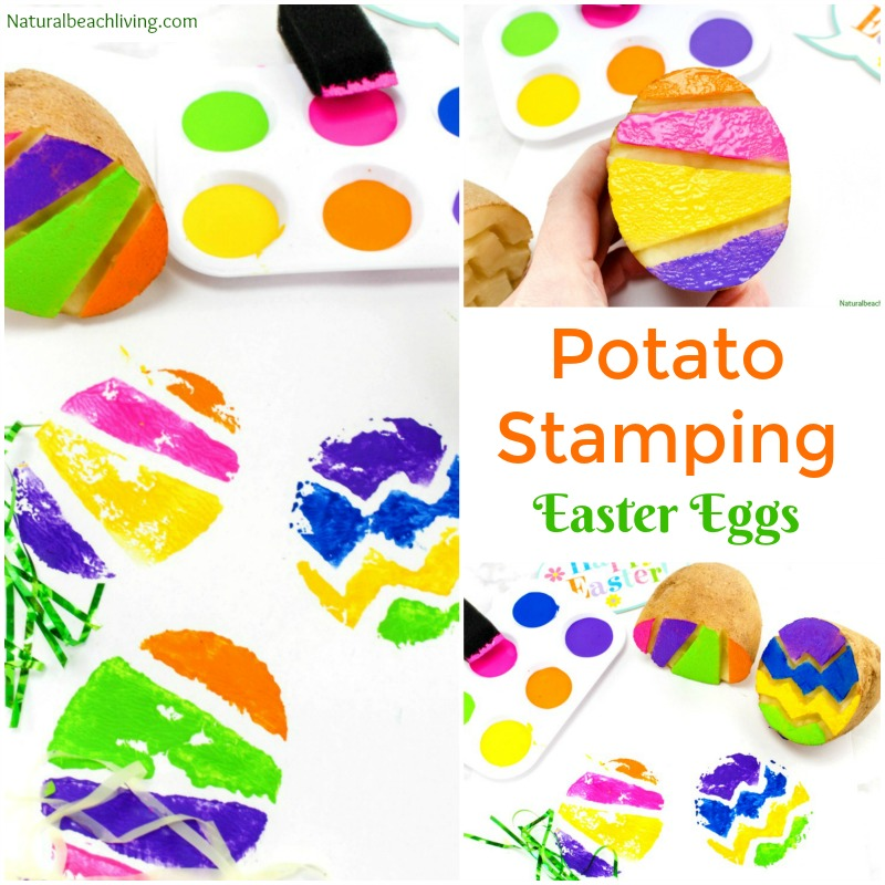 Easter Egg Potato Stamp Ideas for Kids