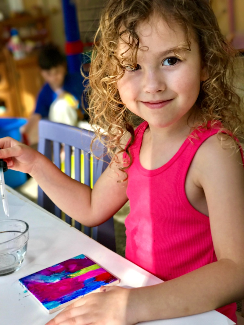 Easy Tile Art for Kids That Everyone Will Enjoy, Sharpie Art is the coolest, perfect art for kids, Fun Art process, Painted Coasters make a great gift
