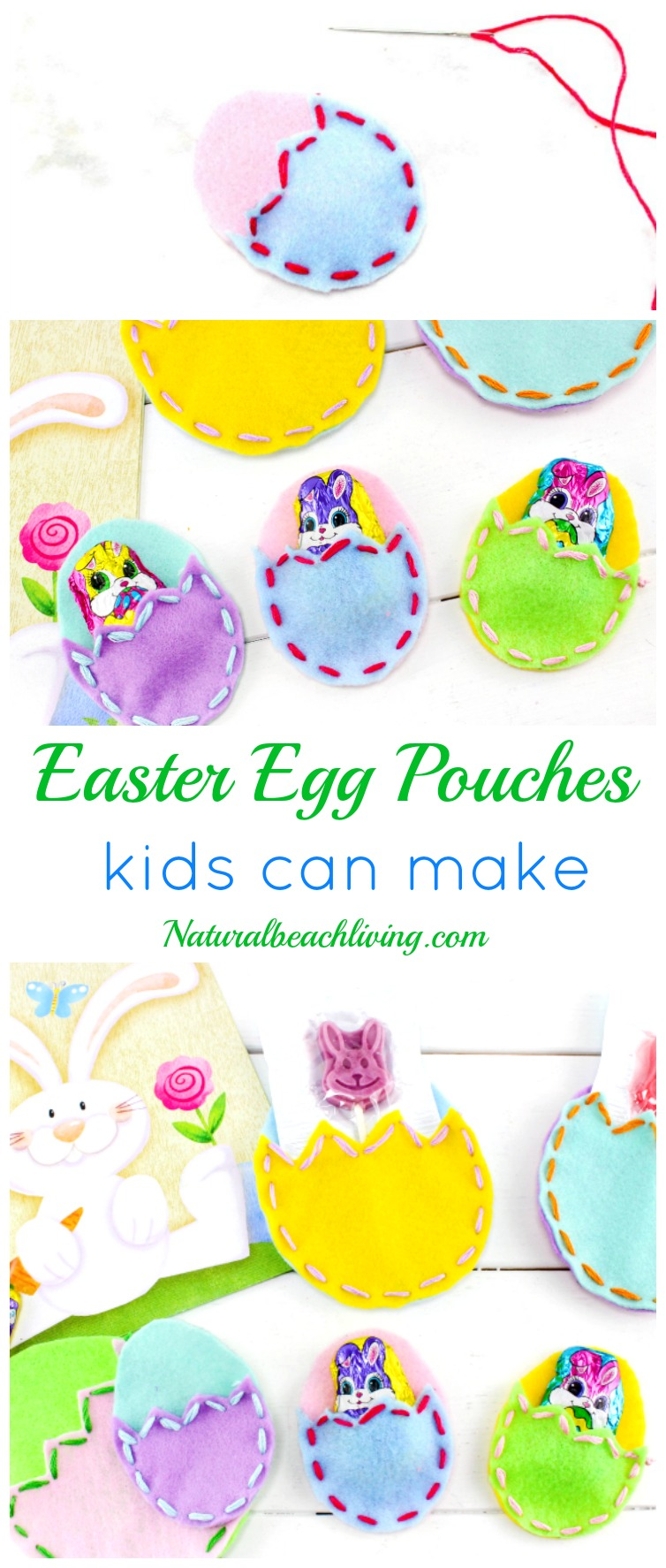 DIY Easter Treat Bags Kids Love, Creative Easter Crafts for Kids, perfect little Easter Egg Treat Bag made of felt, Fun Homemade gift idea for Easter