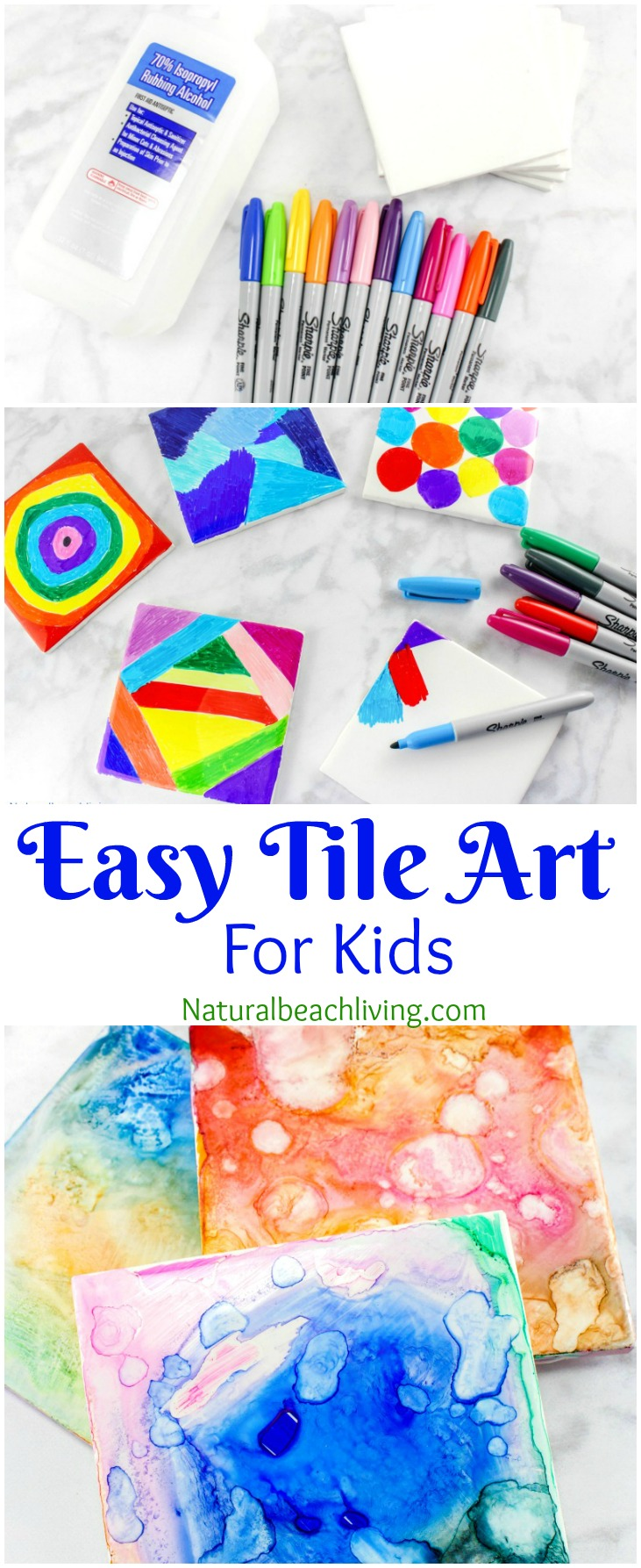 Tile Art for Kids, Tile Art That Everyone Will Enjoy, Easy Sharpie Art for Kids is the coolest, perfect Tile Crafts for kids that is a Fun Process Art, Sharpie Crafts, Kid made gift idea, Tie Dye arts and crafts ideas, Crafts for kids, Kid Art makes a beautiful handmade gift idea, art activities for all ages