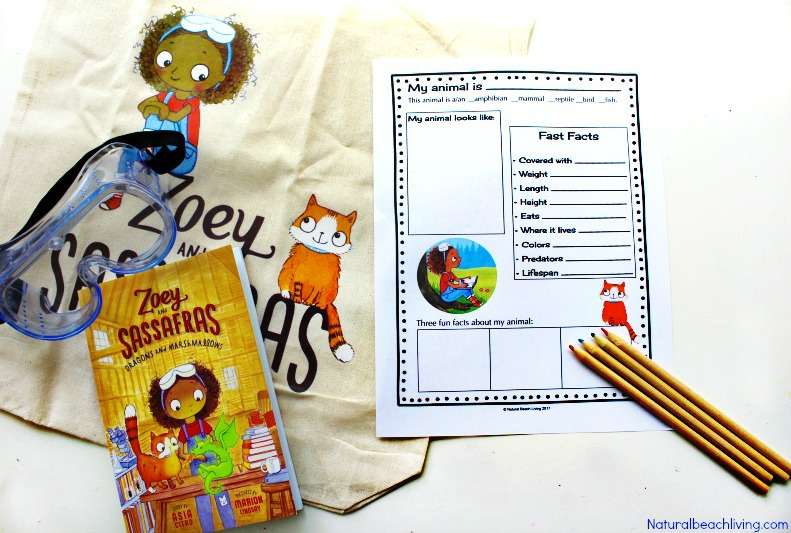 Animal Research for Kids with Zoey and Sassafras, Grab your Free Animal Information worksheet and free Printable for kids, Animal Habitat Activities and Animal Activities for Preschool and Kindergarten, Kids can learn about animals and observe animals with great books and activities.