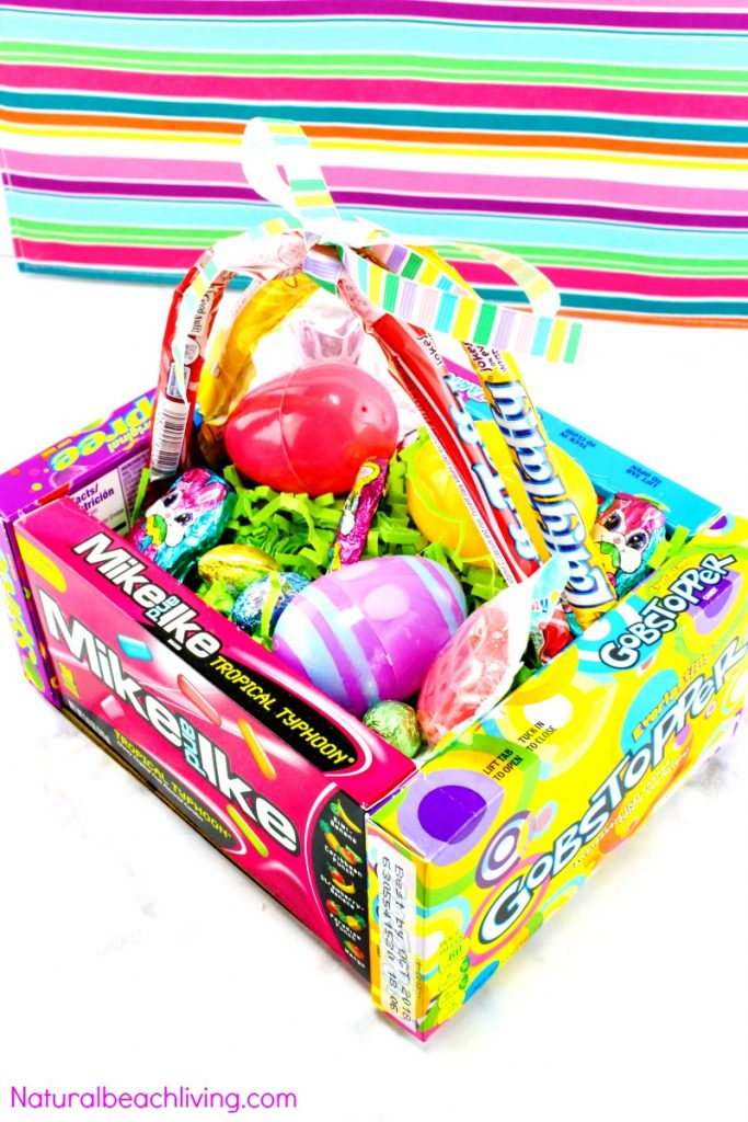 DIY Candy Easter Basket for Kids, Kids Love this Edible Easter  Basket and it that makes a cool Easter gift, Find great Easter Ideas and Teen gift ideas for Easter