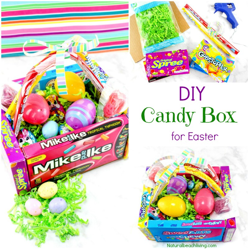 DIY Candy Easter Basket for Kids, Kids Love this Edible Easter Basket and it that makes a cool Easter gift, If you are on a Budget for Easter you can Find great Easter Ideas and Teen gift ideas for Easter Here