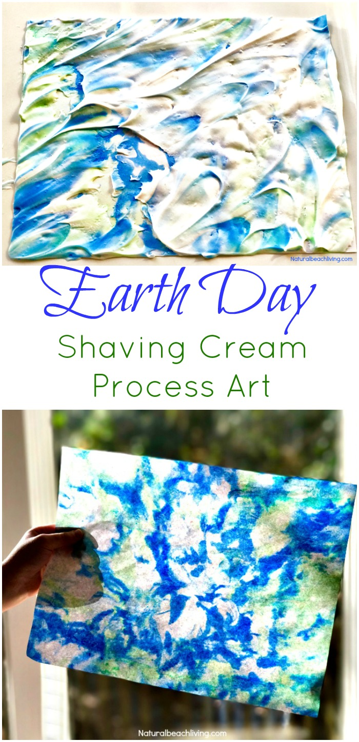 Earth Day Art Activities - Shaving Cream Marbled Paper ...