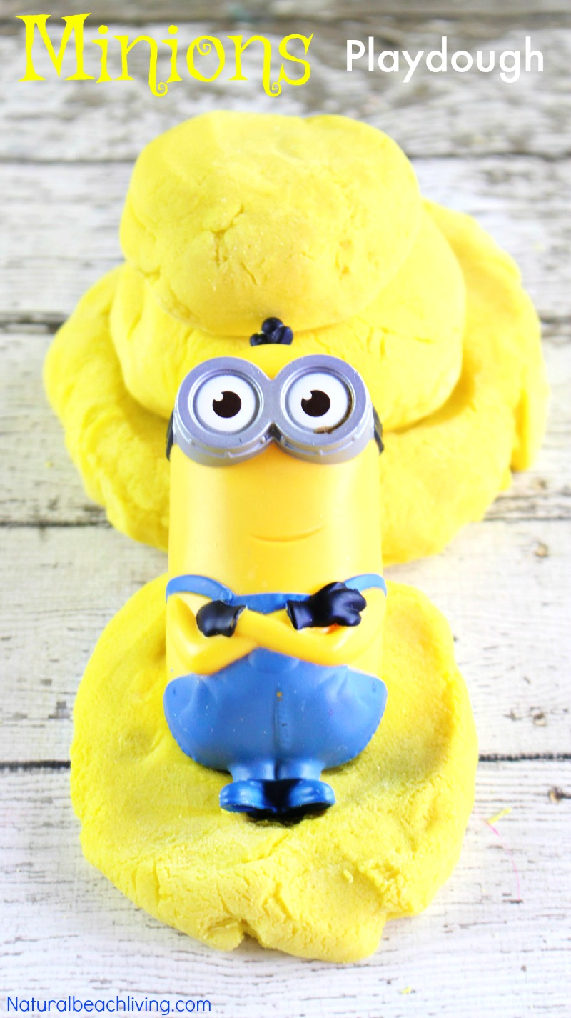 Amazing Playdough Recipe for Kids, Super Fun Minions Play Dough, Banana Scented Playdough, Easy Cooked playdough for kids sensory play, Despicable Me