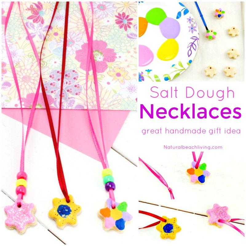 The Best Salt Dough Recipe Ornaments, Salt dough Necklaces, Easy Handmade gift ideas, Kids crafts, Perfect Salt Dough Recipe, fun art & crafts kids can make