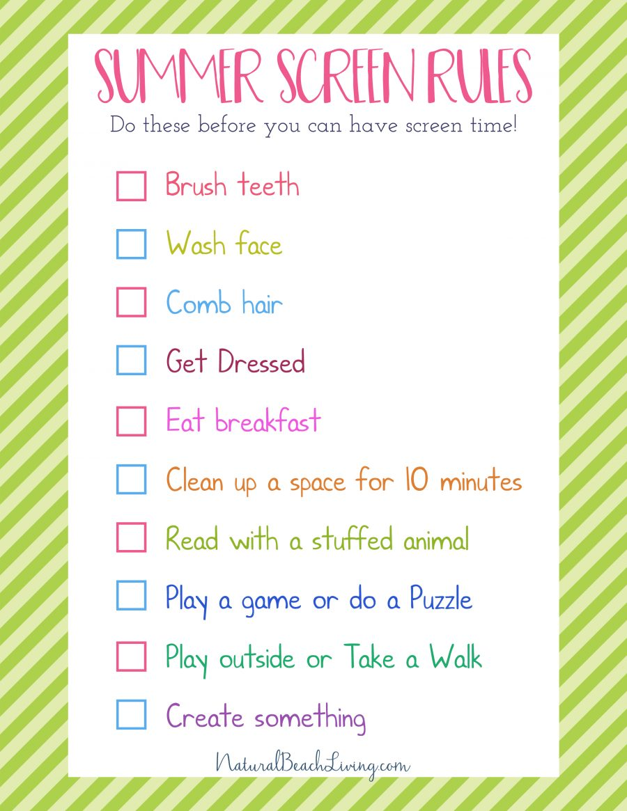 photograph about Summer Rules Printable known as The Fantastic Summertime Suggestions for Little ones - Exhibit Cost-free Period