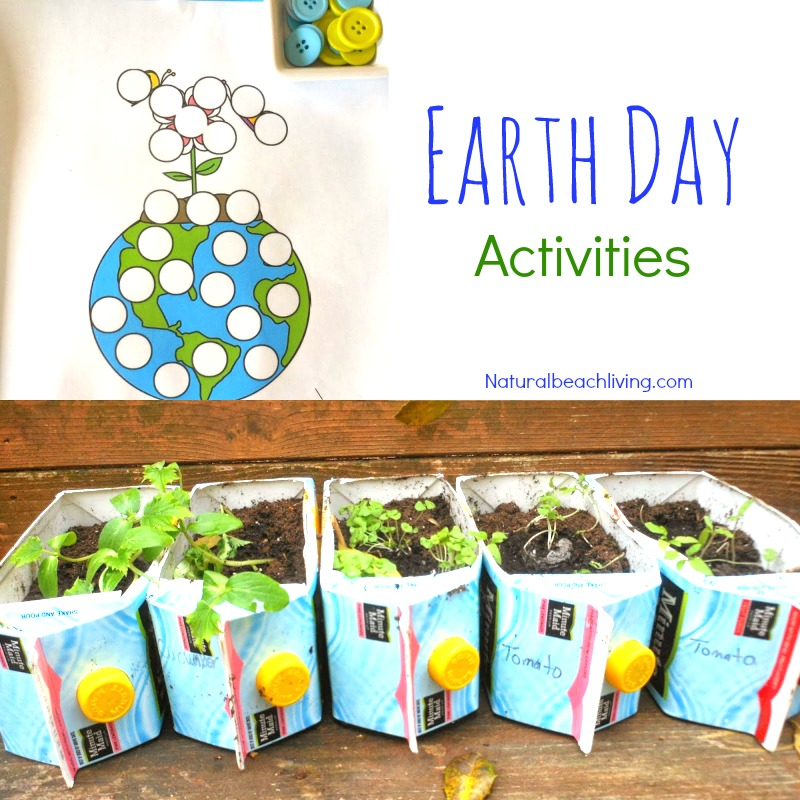The Ultimate Earth Day Theme Preschool Activities, 50+ Earth Day Activities for Kids, Spring Preschool theme, Earth Day Crafts, Art, Sensory & Science